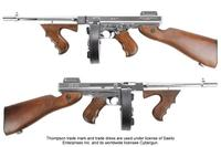 King Arms Thompson M1928 Chicago Silver