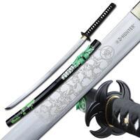 Z-Hunter Handforged Samurai Sword - Black/Green