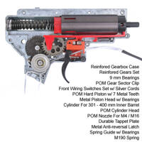 King Arms Ver.II Front Wiring Complete Gearbox for M4 Series - M190