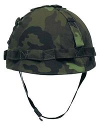 Militärhjälm med hjälmskydd CZ-Tarn