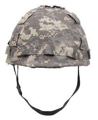 Militärhjälm med hjälmskydd AT Digital