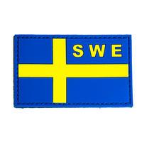 PVC Patch Svenska Flaggan - Gul/Blå