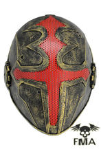 FMA Wire Mesh Mask Cross The King Gold
