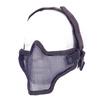 Airsoft metal mesh mask Black
