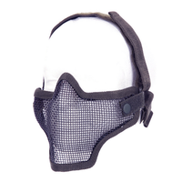 Airsoft metal mesh mask Black