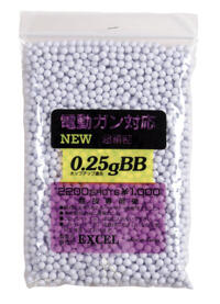 EXCEL 0.25g High Precision 6mm BB (2200 Rounds)