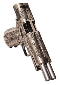 WE 1911 Dual Barrel GBB Pistol - Floral Design
