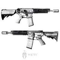 GunSkins® AR-15/M4 Skin - Kryptek Yeti