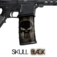 GunSkins® M4 MAG Skin x 3 - Punisher Black