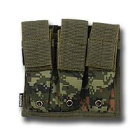 Inspire Molle Trippel Pistol Mag Pouch Digital Woodland
