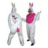 Bunny Suit White/Pink - One Size
