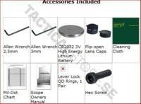 UTG 1-4x24 30mm Long Eye Relief CQB Scope w/ Glass Mil-dot RGB Reticle & QD Rings