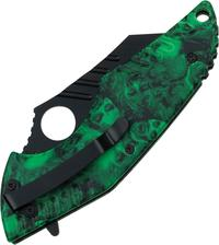 Z-Hunter Linerlock Green Skull A/O