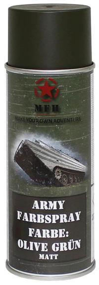 MFH Army Spray Paint 400 ml Olive Green Matt