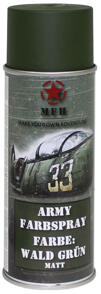 M.F.H.  Army Spray Paint 400 ml Forest Green Matt