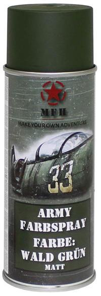 MFH Army Spray Paint 400 ml Forest Green Matt