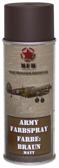 MFH Army Spray Paint 400 ml Brown Matt
