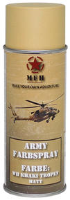 M.F.H.  Army Spray Paint 400 ml Kaki Matt