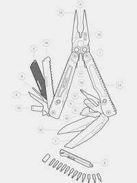 SOG Powerplay With Nylon Sheath And Hexbit Kit