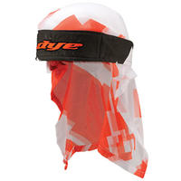 DYE Head Wrap Airstrike Orange/White