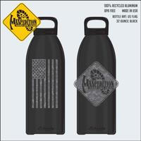 Maxpedition 0,95L Water Bottle US Flag Black