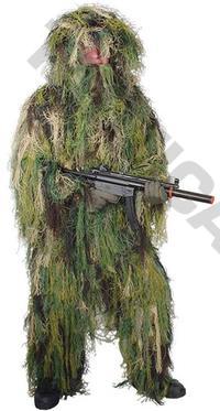 Ghillie suit Woodland 4pcs kit M/L