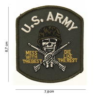 Patch US army (skull) with velcro