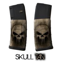 GunSkins® M4 MAG Skin x 3 - Punisher Tan