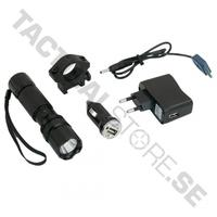 Swiss Arms Flashlight,WH incl. rechargable battery + USB and Car car charger