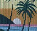 Draperi bambu Solnedgång Hawaii