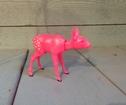 Bambi rosa nodding head Retro 5cm