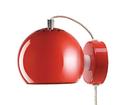Lampa Ball Vägg Röd