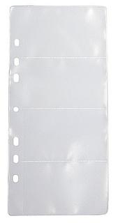 Ficka 4-fack (visitkort) PP transp. 10-pack