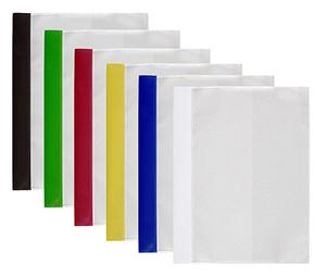 Mapp offert dubbel frams. & rak ficka A4 PP präglad vit bred med monterad mek.