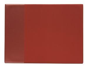Skrivunderlägg A2 PP röd med klaff för almanacka samt skummad undersida