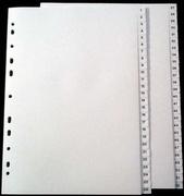 Register A4 PP vita 1-52 svart pag. Levereras individuellt packade i påse inkl. försättsblad i papp