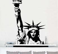 Väggdekor -Frihetsgudinnan 102 x 158 cm, svart dekor