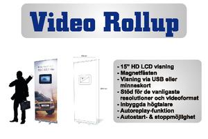 Video Rollup -85 x 200 cm