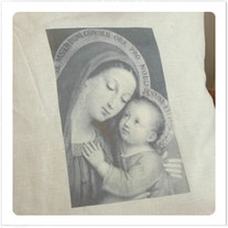 """Transfer picture for textiles, """"madonna with child"""""""