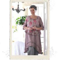 Linen jacket, Talia B., dusty pink pattern