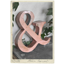 Large &-sign, handmade fr recycled metall, 34 cm