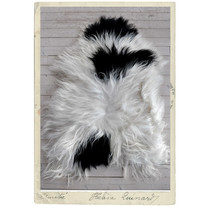 ECO-sheep fur from Iceland, white & black