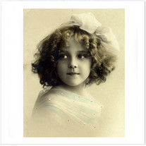 """Transfer picture for textiles, """"Girl with white ribbon"""""""