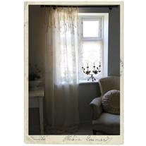 Lace curtain in cotton, Jeanne d´Arc Living, 5 x 1,2 m, beige 1 pc