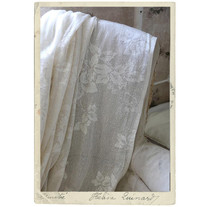 Spetsyg i bomull fr Jeanne d´Arc Living, 5 x 1,2 m, ljust beige