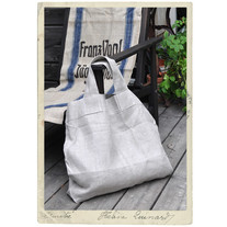 Large linenbag, wide handles, natural linen