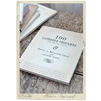 """Stort block i vintagestil """"100 gathered thoughts"""" m ordspråk"""