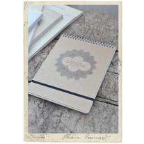 Spiralblock m gummiband för anteckningar, 60 sidor