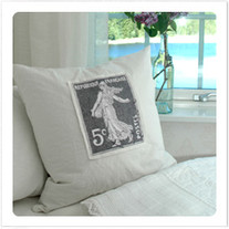 """Transfer picture for textiles, """"French stamp 5c"""""""