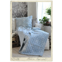 Quilt spread, 150 x 150 cm, blue and white